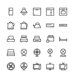Hotel Outline Icons 3 vector