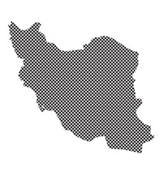 iran map vector image