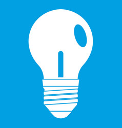 light bulb icon white vector image