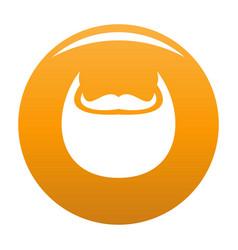 man beard icon orange vector image
