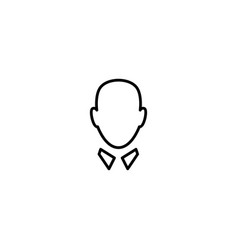 man head with collar leader icon logo line vector image