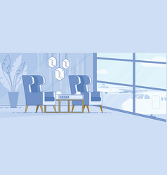 modern airport terminal luxury lounge area vector image