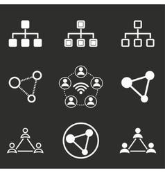 Network icon set vector