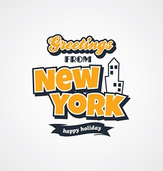 New york vacation greetings theme vector