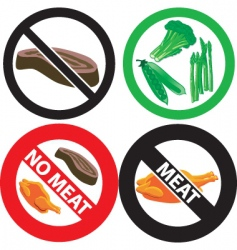 no meat sign vector image
