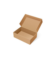 open box for shoes storage empty carton container vector image