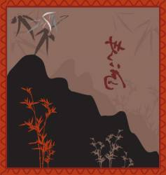 oriental landscape vector image