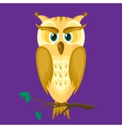Owl on a Dark Background vector image