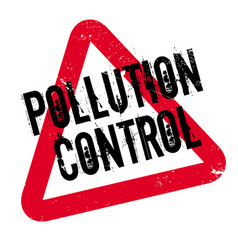 Pollution control rubber stamp vector