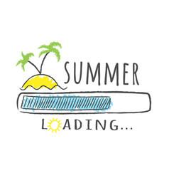 progress bar with inscription - summer loading vector image