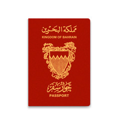 Realistic 3d passport vector