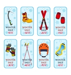 Sale banner coupons winter sale for sport vector