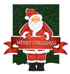 Santa Claus with Christmas ban vector image
