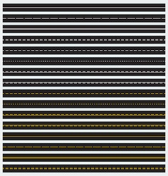 seamless roads vector image