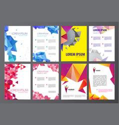 set flyers brochures abstract design 2 vector image