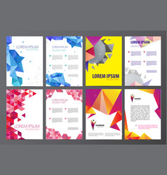 Set of flyers brochures abstract design 2 vector