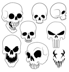 set skulls vector image