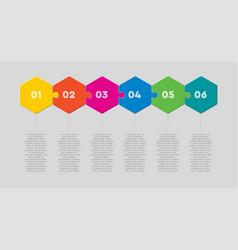 Six pieces puzzle hexagon line info graphic vector