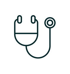 stethoscope diagnostic equipment medical icon line vector image