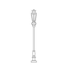 Streetlight vintage lamp in black and white vector