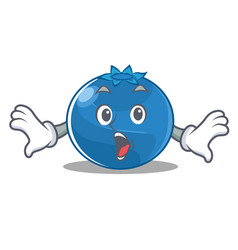 Surprised blueberry character cartoon style vector