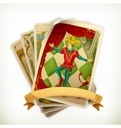 Tarot vintage icon vector