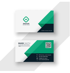 Turquoise business card design template vector