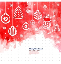 Watercolor Christmas can be used as a greeti vector image