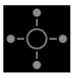 white halftone radial structure icon vector image