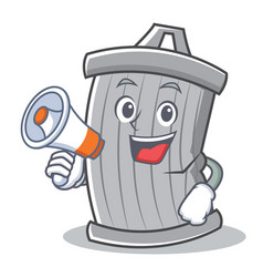 With megaphone trash character cartoon style vector