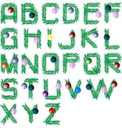 christmas tree font vector image