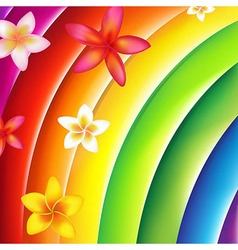 Fantastic Colorful Background With Flowers vector image vector image