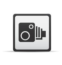 Speed camera icon vector