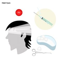 Symptoms of Head Injury with Medical Treatment vector image