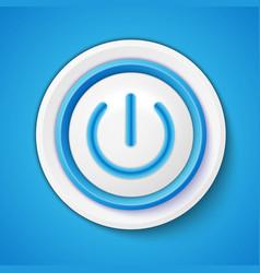 Button Power vector image