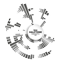Circle halftone element for your design vector image