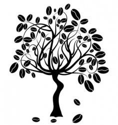 coffee tree vector vector image vector image