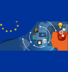 europe it information technology digital vector image vector image