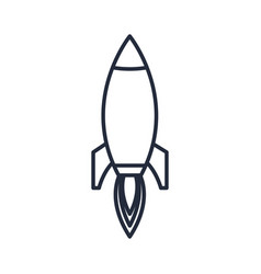 outlined rocket startup business success icon vector image vector image