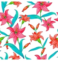 Seamless Pattern of Watercolor Flowers vector image vector image