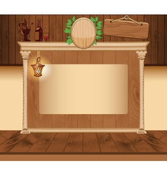 Wooden vintage background for web template vector image