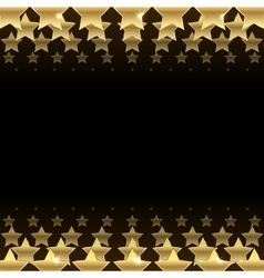 black background with stars vector image vector image