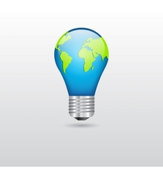Bulb with planet vector image