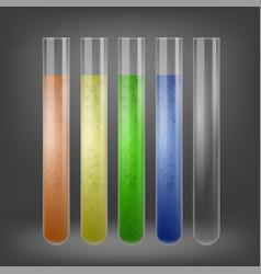 chemical test tube set vector image