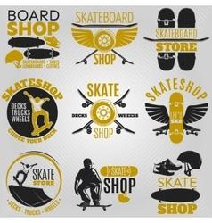 Colored Skateboarding Emblem Set vector image