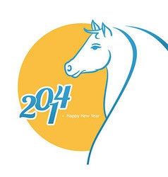 Horse 2014 vector image vector image