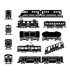Passenger and public rail city transport black vector image