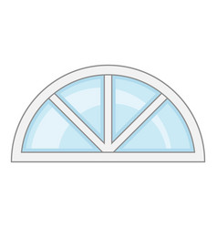 roof window frame icon cartoon style vector image vector image