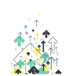 Abstract Success Concept Growing arrows Motion Up vector image vector image