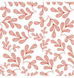botanicals pattern moringa white background vector image